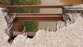 老被佩带的桥梁 库存图片
