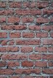 老被佩带的红砖墙壁详述背景纹理 免版税库存图片