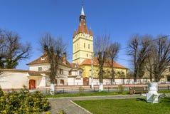 老被加强的教会在Cristian,布拉索夫,罗马尼亚 库存照片