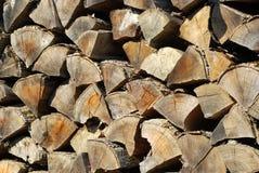 老被堆积的木柴 库存图片