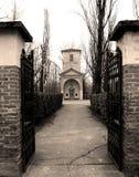 老被塑造的坟园 库存照片