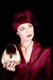 老被塑造的夫人 图库摄影