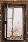 老被打碎的视窗 免版税图库摄影