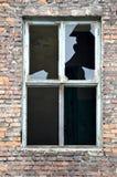 老被打碎的视窗 免版税库存照片