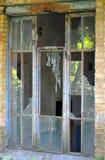 老被打碎的视窗 免版税库存图片