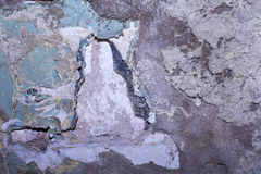 老被抓的破旧的墙壁的纹理 库存照片