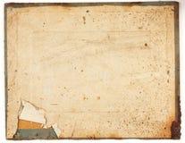 老被撕毁的纸纹理  免版税库存图片