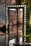 老被放弃的入口工厂 库存图片