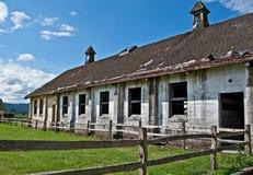 老被放弃的奶牛场 免版税库存照片