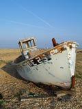 老被放弃的小船 免版税图库摄影