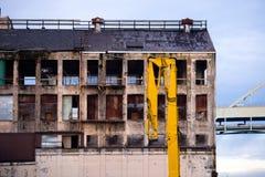 老被放弃的工厂厂房从过去生活 库存图片