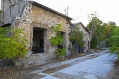 老被放弃的工厂,希腊 免版税图库摄影