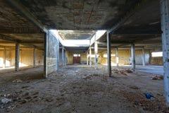 老被放弃的工厂 库存图片