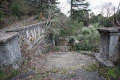 老被放弃的庭院 库存照片