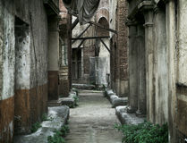 老被放弃的房子在古老罗马 免版税库存图片