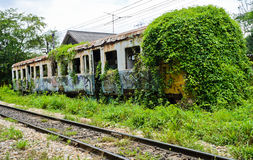 老被放弃的有轨电车 图库摄影