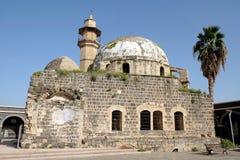 老被放弃的清真寺在提比里亚 免版税库存照片