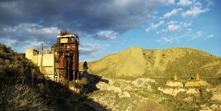 老被放弃的硫磺矿05 免版税库存图片