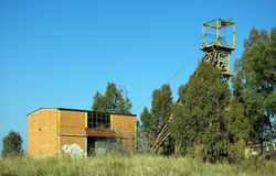 老被放弃的硫磺矿14 免版税库存图片