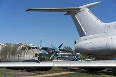 老被放弃的飞机 库存照片