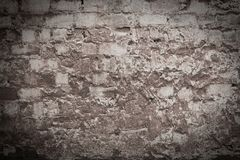 老被毁坏的墙壁的纹理 库存图片
