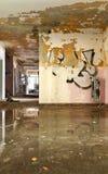 老被毁坏的房子 库存图片