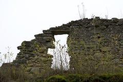 老被破坏的墙壁 免版税库存图片
