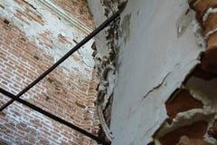 老被破坏的大厦 建筑学的片段 酿造 库存图片