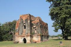 老被破坏的寺庙 免版税库存图片