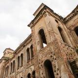 老被破坏的犹太教堂大厦在维丁,保加利亚 免版税库存照片
