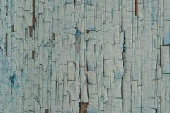 老被绘的木墙壁-纹理或背景 免版税图库摄影