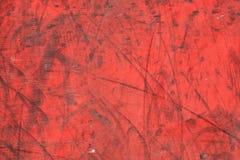 老被绘的胶合板纹理 免版税库存图片