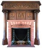 老被隔绝的葡萄酒维多利亚女王时代的壁炉 图库摄影