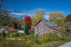 老被风化的农场,东南明尼苏达 免版税库存图片