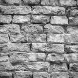 老被风化的和被打击的砖墙纹理 库存图片