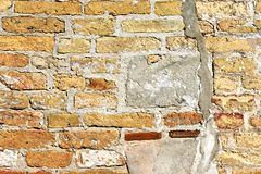 老被风化的墙壁的背景 免版税库存图片