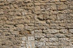 老被风化的外部石墙建筑充分的框架背景 库存图片