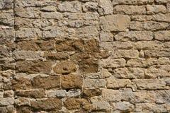 老被风化的外部石墙建筑充分的框架背景 库存照片