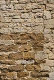 老被风化的外部石墙建筑充分的框架背景 图库摄影