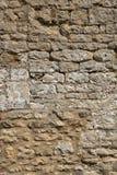 老被风化的外部石墙建筑充分的框架背景 免版税库存图片