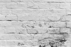 老被风化的白色砖墙纹理 免版税库存图片