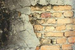 老被风化的砖墙纹理 图库摄影