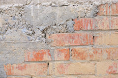 老被风化的砖墙 免版税库存图片