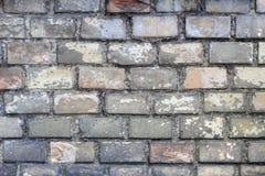 老被风化的砖墙 免版税库存照片