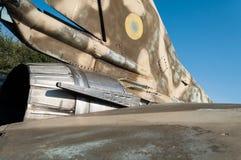 老被风化的米高扬Gurevich MiG23MF 免版税库存照片