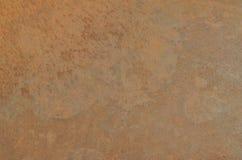 老被风化的金属片与铁锈,肮脏的污点 免版税库存图片