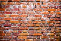 老被风化的难看的东西红砖墙壁 免版税库存照片