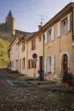 老被围住的城堡 卡尔卡松 法国 库存照片