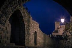 老被围住的城堡 卡尔卡松 法国 免版税库存照片