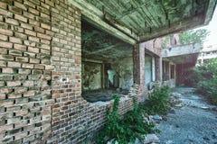 老被破坏的修造的外部 库存图片